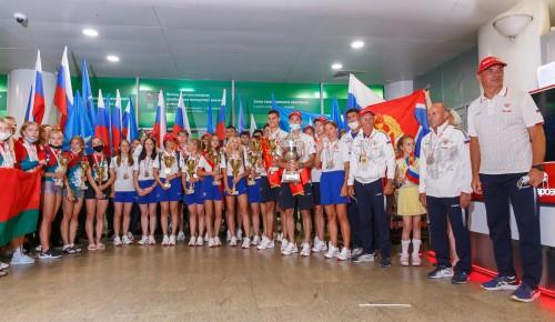 В Москве торжественно встретили юных победителей мирового первенства по пожарно-спасательному спорту