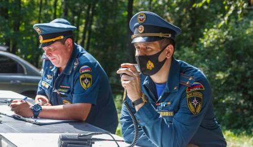 В Москве прошло опытное пожарно-тактическое учение с применением пневматической пеногенерирующей установки «CAFS и SkyCafs»