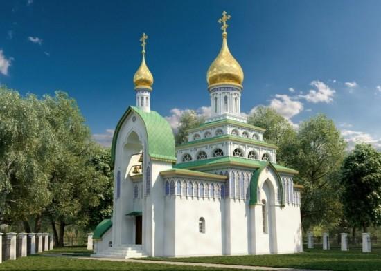 Строители приступили к возведению стен храма святителя Луки  при больнице Виноградова