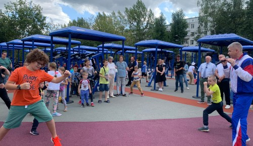 Уникальная спортивная площадка открыта в Конькове