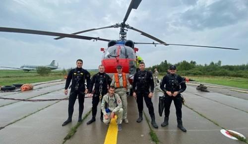 Спасатели Московского авиацентра получили допуски к спасению людей с воды