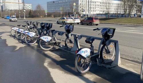 До ноября жители Обручевского района могут арендовать велосипеды «Велобайк»