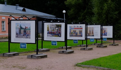 Выставка акварели Алены Дергилевой в Воронцовском парке