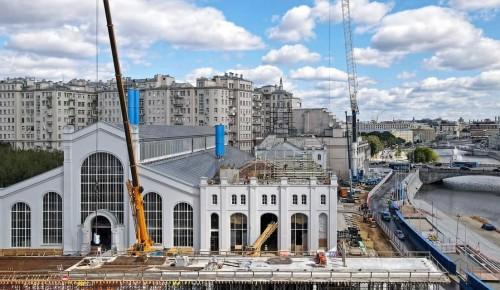 Собянин осмотрел ход работ по созданию Дома культуры «ГЭС-2» на Болотной набережной