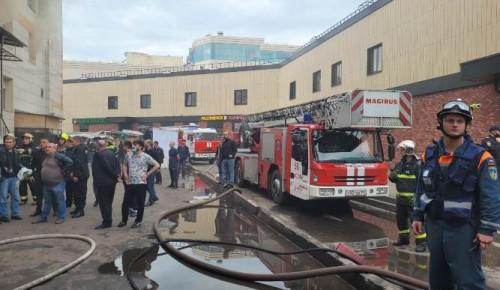 Огнеборцы ЮЗАО ликвидировали пожар на Новоясеневском проспекте