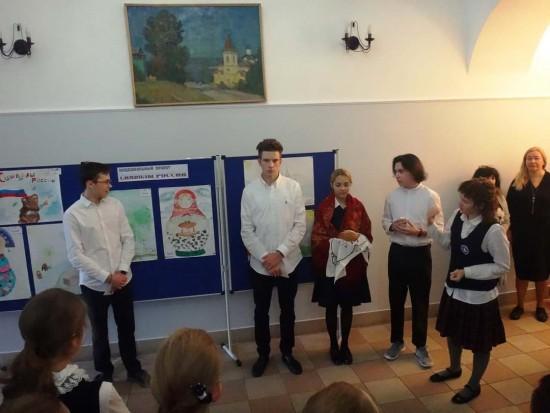 В школе при Андреевском монастыре ученики поучаствовали в проекте «Символы России»