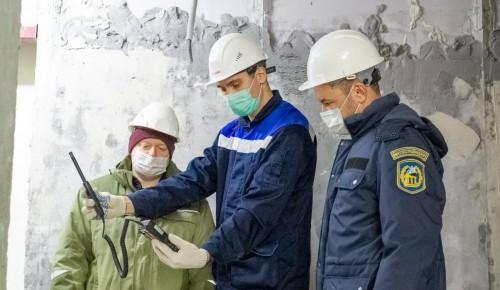Мосгосстройнадзор проверил качество работ на строительстве жилого дома в Южном Бутове