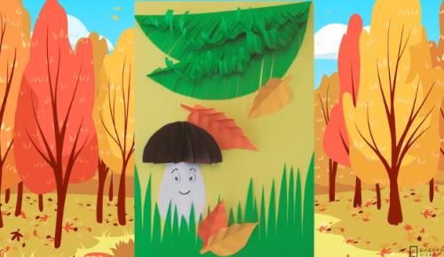 """Библиотека №190 опубликовала мастер-класс по созданию композиции """"В осеннем лесу"""""""