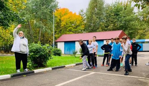В школе №1206 прошла сдача нормативов ГТО
