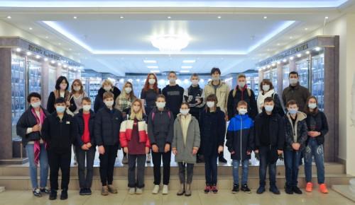 Учащиеся школы №1995 посетили с экскурсией Московский университет МВД имени Кикотя