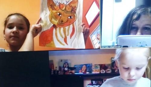 """В ЦДС """"Обручевский"""" прошел онлайн-мастер-класс для детей """"Осенняя палитра"""""""