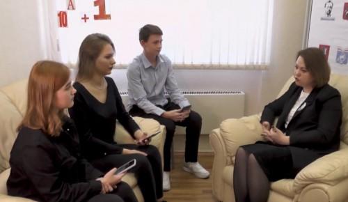 Юные корреспонденты школы №170 взяли интервью у директора