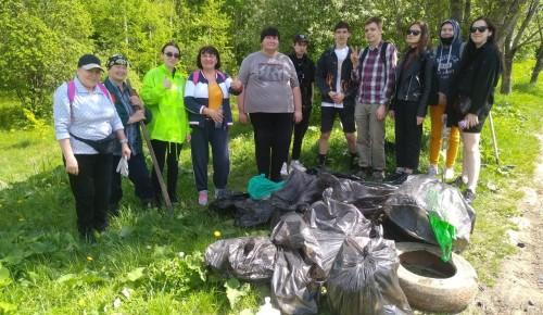 За два субботника волонтёры собрали в Битцевском лесу 2,7 кубометра мусора