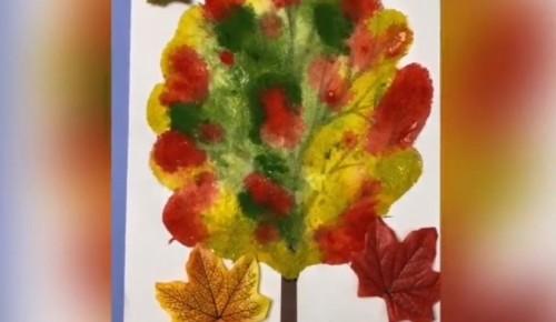 """Усадьба """"Воронцово"""" опубликовала осенний мастер-класс по созданию аппликации в виде осеннего дерева"""
