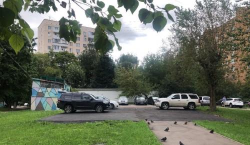 В Котловке на месте самостроя появилась новая парковка
