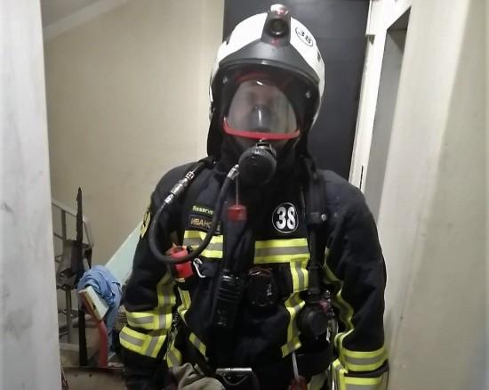 7 октября на улице Цюрупы произошел пожар