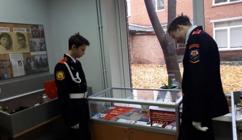 В школе № 626 кадеты смогли увидеть подлинные экспонаты военного периода